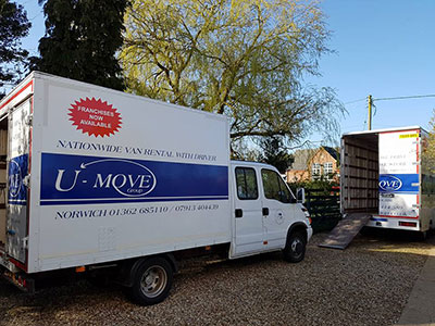 hire van for removals norwich norfolk