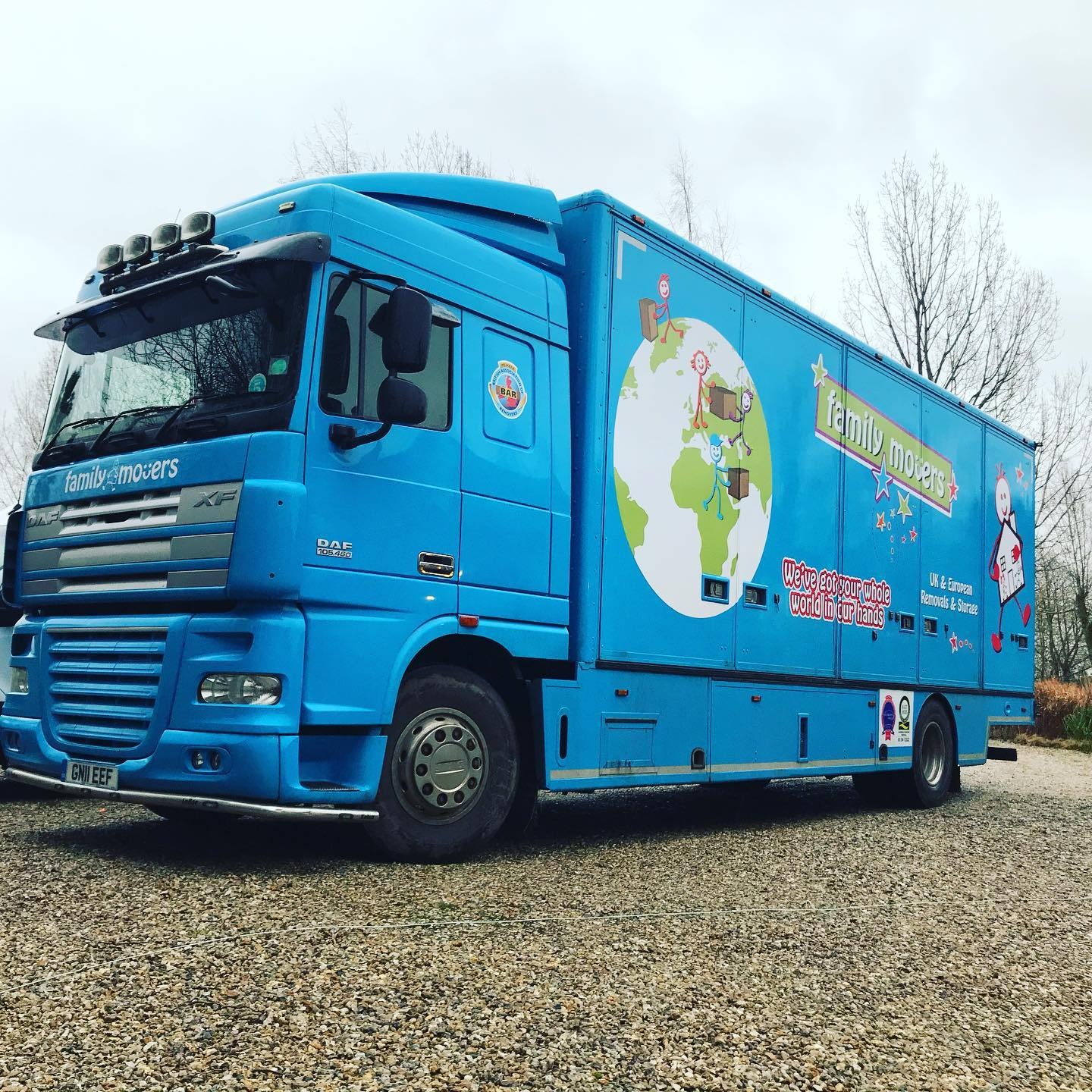 Family Movers removal lorry, ready for a home move